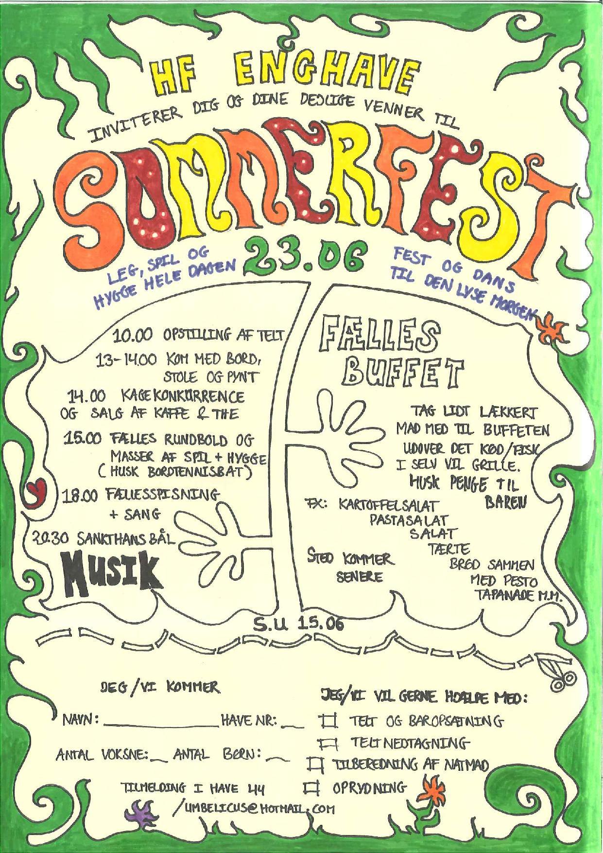 Invitation til sommerfest 2012